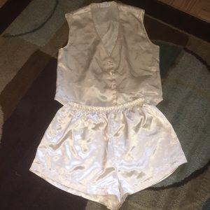 Comfortable silky pajama set